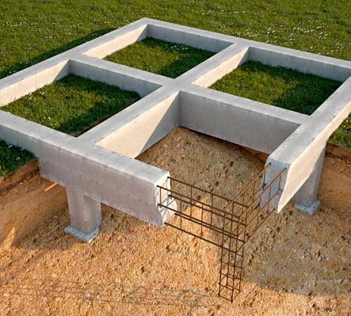 Схема устройства столбчатого фундамента на песчаной почве