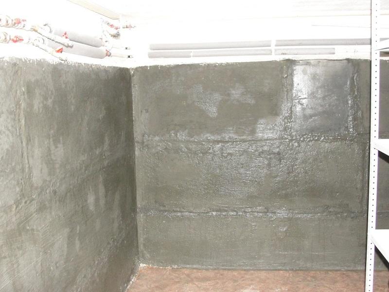 Стены погреба, гидроизоляция бетонных стен