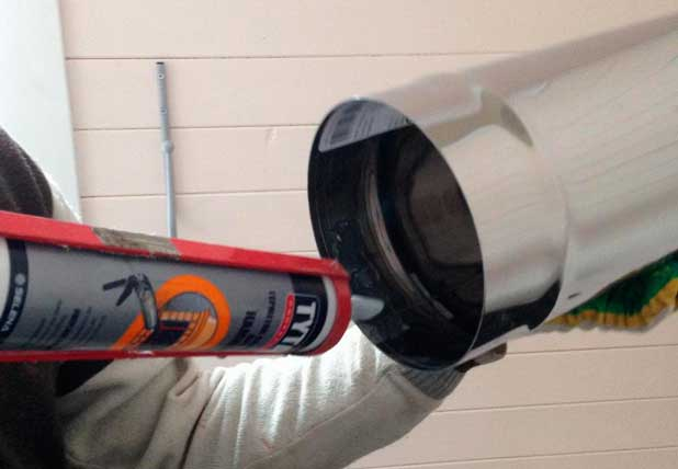 Уникальный силиконовый термостойкий герметик для дымохода