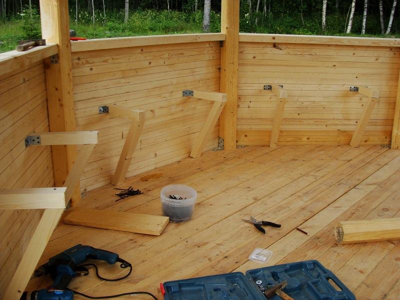 скамейки для беседки, необходимые инструменты