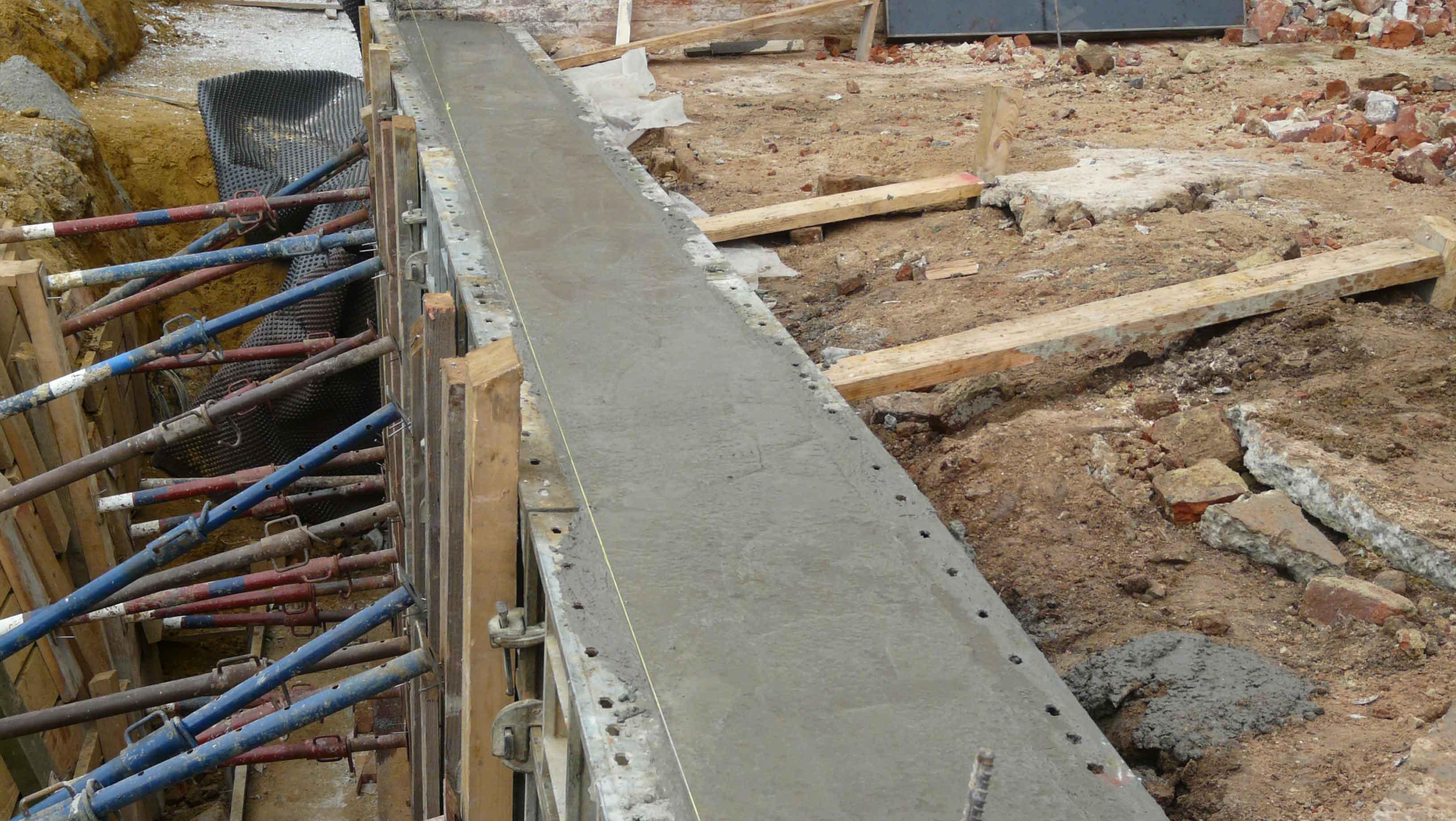 Изготовление и заливка бетона для фундамента дачи
