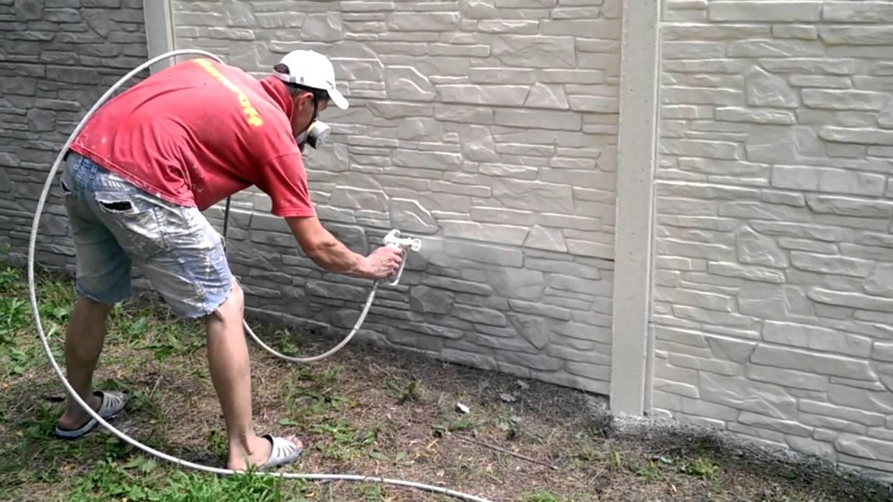 Как покрасить забор с помощью пульверизатора