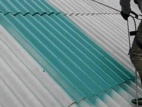 Покраска шиферной кровли безвоздушным распылением