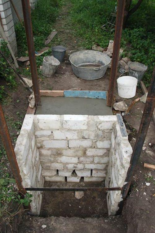 Фундамент для туалета на даче из кирпича