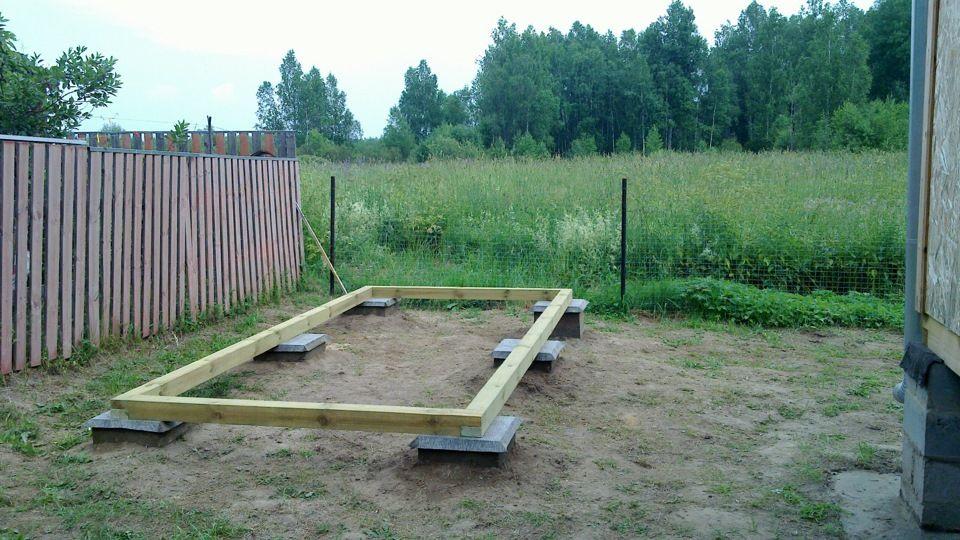 Фундамент для туалета с душем под одной крышей