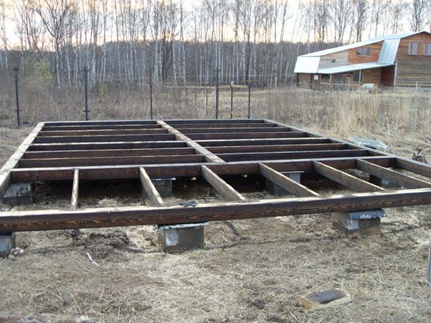 Фундамент для загородного дома из бруса своими руками