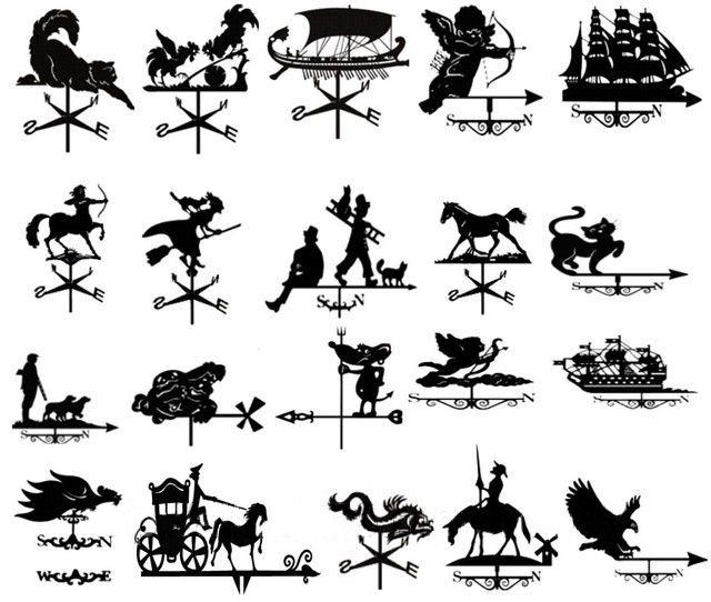 Виды флюгеров для дымохода и варианты декора