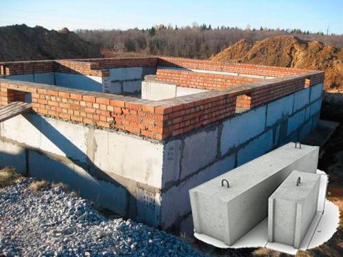 Фундамент из блоков ФБС под частный дом