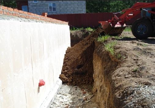 Фундамент на глинистой почве - обратная засыпка