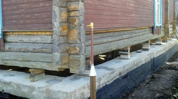 Как подлить фундамент под старый деревянный дом советы специалистов