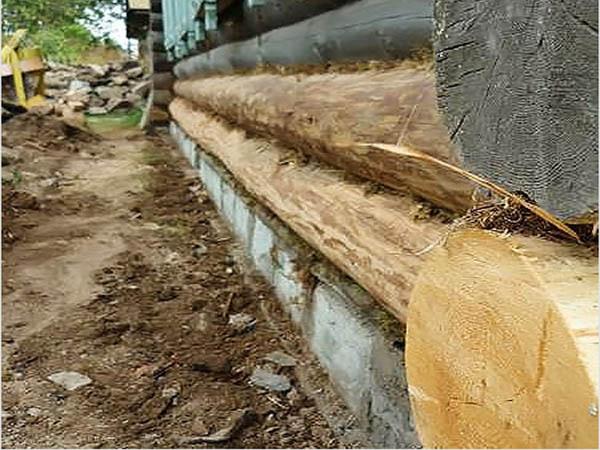 Как подлить фундамент под старый загородный деревянный дом