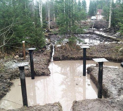 Как построить фундамент на болоте - секреты специалистов