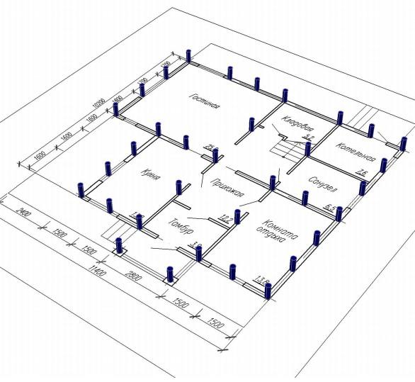 Как рассчитать свайный фундамент под загородный дом