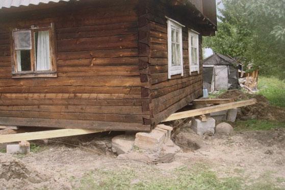 Как самостоятельно подлить фундамент под старый деревянный дом
