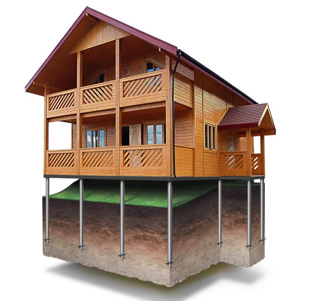 Какой тип фундамента выбрать для строительства дачи на склоне