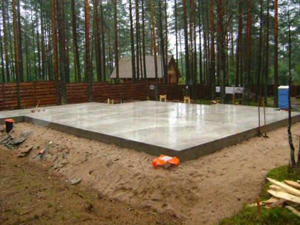 Монолитный фундамент способный выдержать двухэтажный дом из газобетонных блоков
