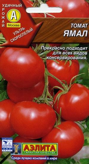 Помидоры Ямал - ультраскороспелый сорт томатов