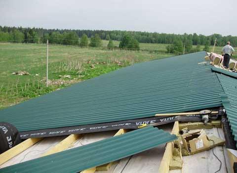 Ремонт крыши частного дома - необходимые материалы и инструменты