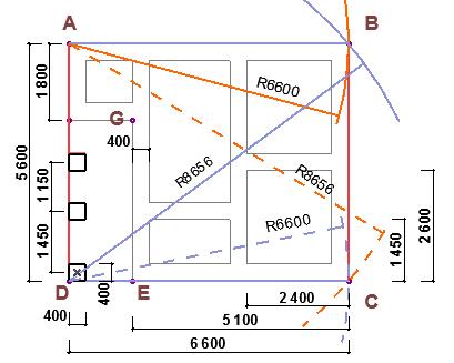Схема правильной разметки фундамента частного дома