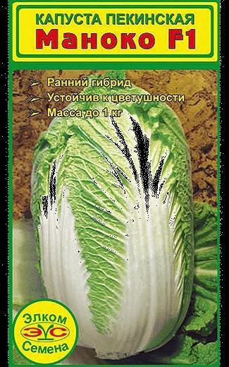 Сорта пекинской капусты, устойчивые к цветушности - ранний Маноко F1