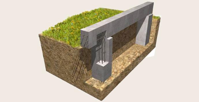 Строительство столбчатого монолитного фундамента с ростверком своими руками