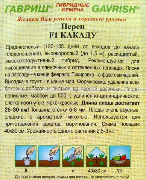 Перец какаду описание и характеристика сорта