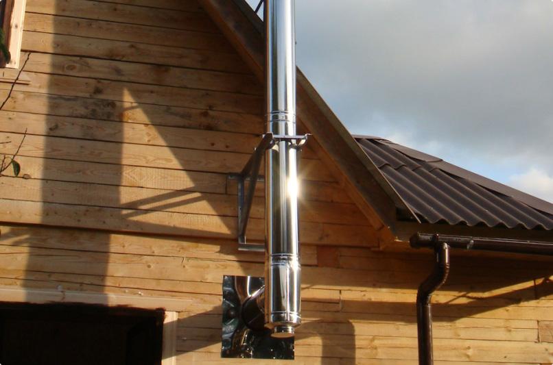 Оцинкованные трубы для дымохода в загородном доме