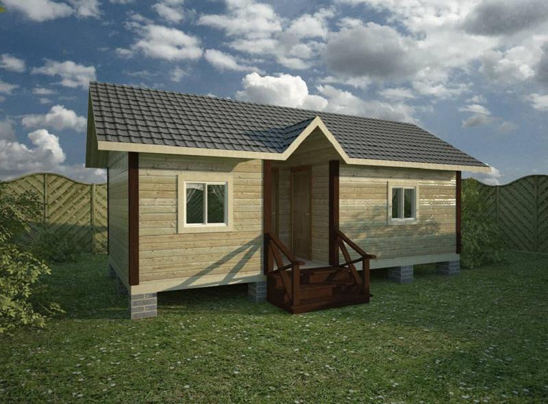 Туалет и душ под одной крышей для загородного участка