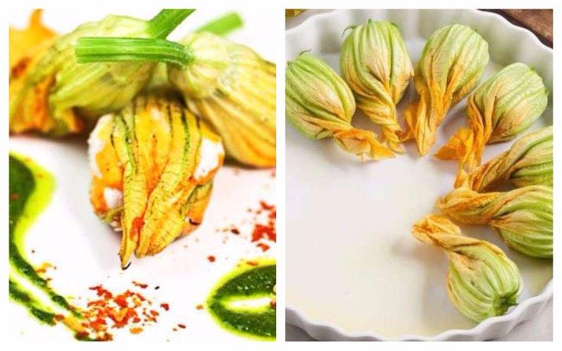 Применение цветков цуккини в кулинарии