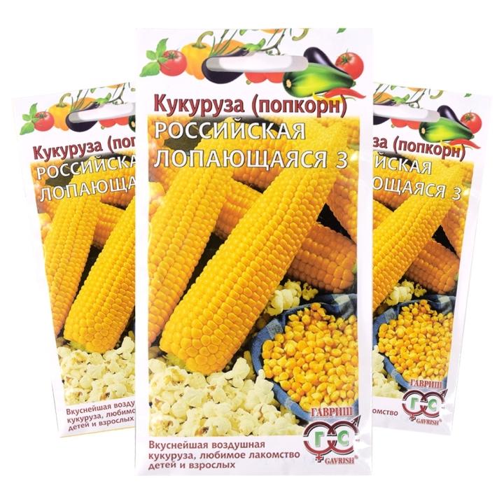 Кукуруза Российская лопающаяся 3 для приготовления попкорна