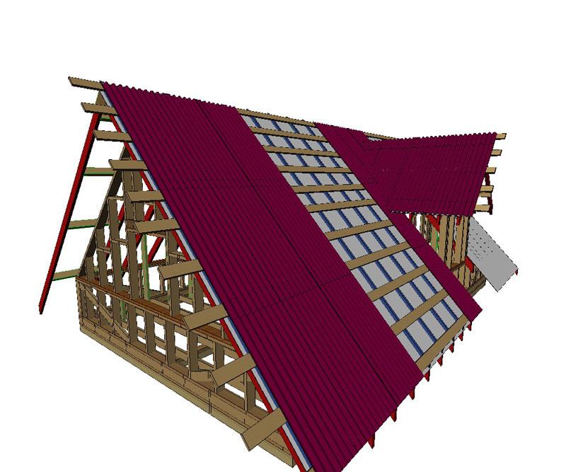 Ломаная крыша из ондулина своими руками