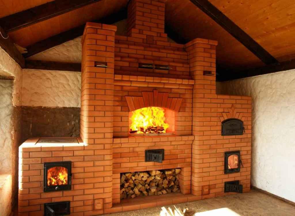 Камин печь для дома из кирпича