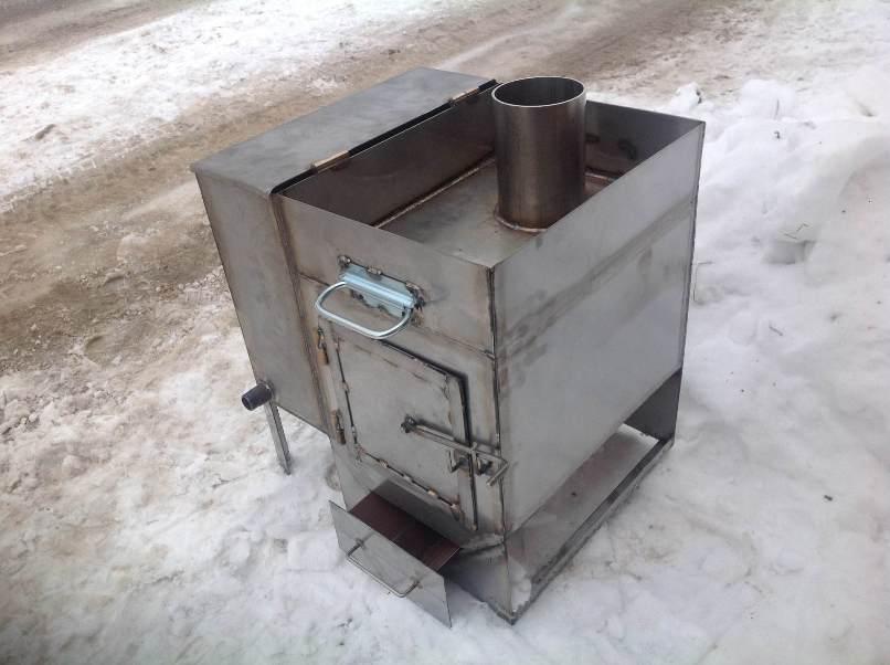 Печи для бани своими руками из металла на газу