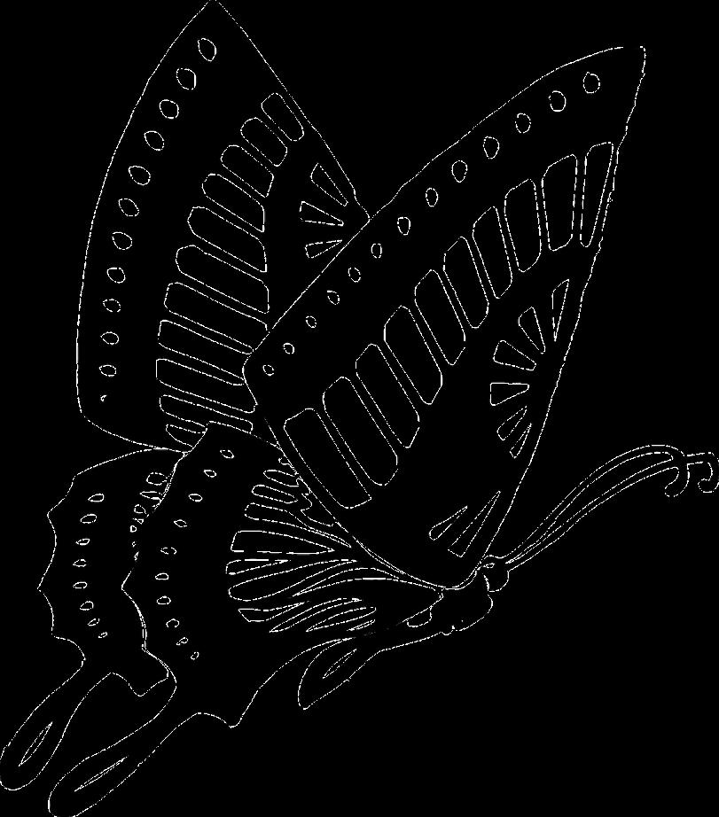 Трафарет-бабочка для забора на загородном участке