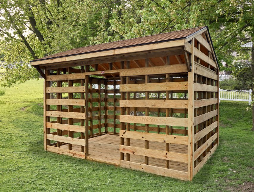 Как построить дровяник своими руками проекты